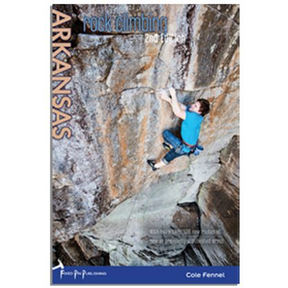 Rock climbing Arkansas guide book.