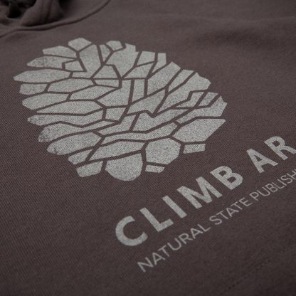 Rock climbing Arkansas hoodie by Natural State Publishing